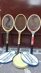 racchette ( tre ) da tennis anni 70